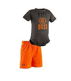 Under Armour® Baby Boys 'Ball Like A Boss' Bodysuit And Short Set