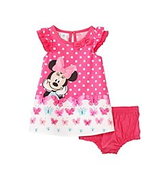 Nannette® Baby Girls' Minnie Mouse® And Butterfly Printed Dress Set