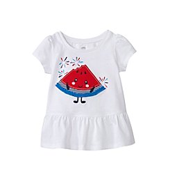 mix&MATCH Baby Girls' Short Sleeve Watermelon Printed Peplum Tee