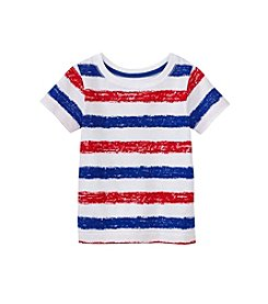 Mix & Match Baby Boys' Month Patriotic Striped Short Sleeve Tee