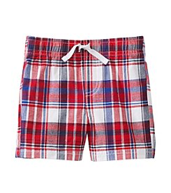 Mix & Match Baby Boys' Patriotic Woven Plaid Shorts