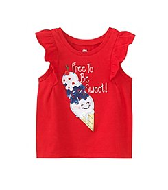 mix&MATCH Baby Girls' Free To Be Sweet Flutter Sleeve Tank