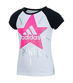 adidas® Girls' 2T-6X Star Power Raglan Tee