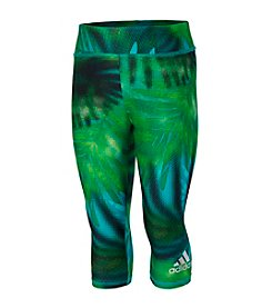 adidas® Girls' 2T-6X Palm Printed Capri Leggings