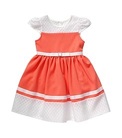 Sweet Heart Rose® Girls' 2T-6X Ponte Dress With Bow