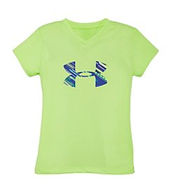 Under Armour® Girls' 2T-6X Big Logo Tech™ Lumos Tee