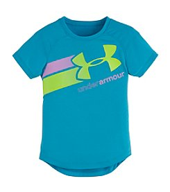 Under Armour® Girls' 2T-6X Fly By Logo Tee