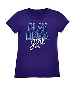 Under Armour® Girls' 2T-6X Play Like A Girl Tee