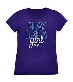 Under Armour® Girls' 2T-6X Play Like A Girl Tee