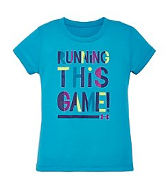 Under Armour® Girls' 2T-6X Running This Game Tee