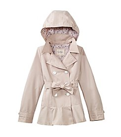 Jessica Simpson Girls' 7-16 Double-Breasted Belted Trench Coat