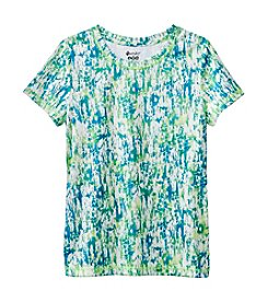 Mambo® Girls' 7-16 Scribble Printed Active Tee