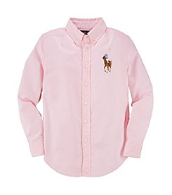 Ralph Lauren Childrenswear Boys' 2T-7 Long Sleeve Oxford Button Down