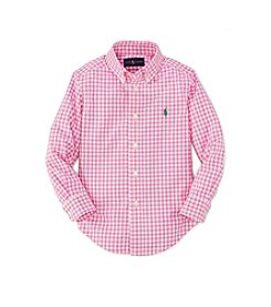 Ralph Lauren Childrenswear Boys' 2T-7 Long Sleeve Plaid Button Down