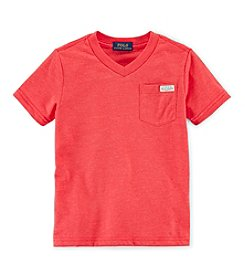 Ralph Lauren Childrenswear Boys' 2T-7 Short Sleeve Pocket Tee