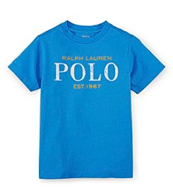 Ralph Lauren Childrenswear Boys' 2T-7 Short Sleeve Logo Tee