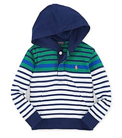 Ralph Lauren Childrenswear Boys' 2T-7 Striped Jersey Hoodie