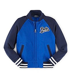 Ralph Lauren Childrenswear Boys' 2T-7 Long Sleeve Baseball Jacket