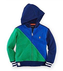 Ralph Lauren Childrenswear Boys' 2T-7 Long Sleeve Colorblock Hoodie