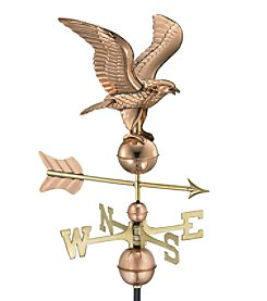 Good Directions® Polished Copper American Eagle Weathervane