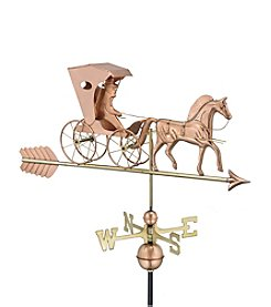 Good Directions® Polished Copper Country Doctor Weathervane with Arrow