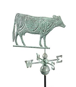Good Directions® Blue Verde Copper Dairy Cow Weathervane