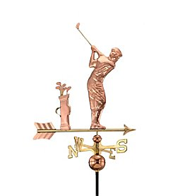 Good Directions® Polished Copper Golfer Weathervane