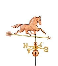 Good Directions® Polished Copper Patchen Horse Weathervane with Arrow