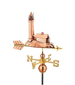 Good Directions® Polished Copper Lighthouse Weathervane