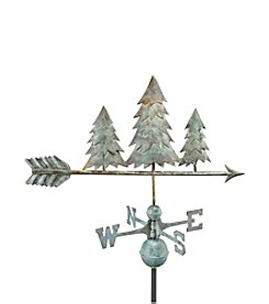 Good Directions® Blue Verde Copper Pine Trees Weathervane