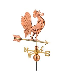Good Directions® Polished Copper Crowing Rooster Weathervane