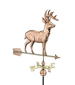 Good Directions® Polished Copper Standing Deer Weathervane with Arrow