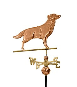 Good Directions® Polished Copper Golden Retriever Weathervane