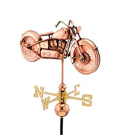 Good Directions® Polished Copper Motorcycle Weathervane