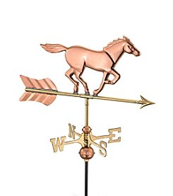 Good Directions® Polished Copper Horse Garden Weathervane with Garden Pole