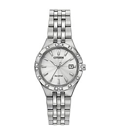 Citizen® Women's Eco-Drive Stainless Steel Diamond Watch