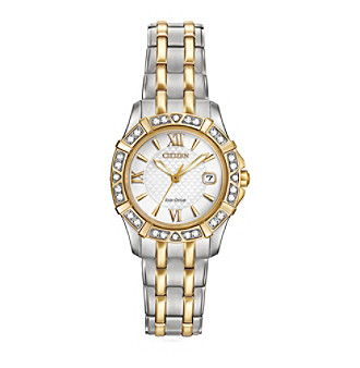 Citizen® Women's Eco-Drive Two Tone Diamond Watch