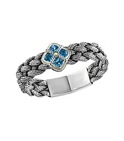 Effy® Blue Topaz Tennis Bracelet In Sterling Silver