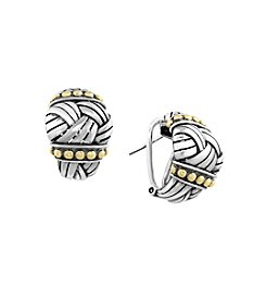 Effy® Balissima Collection Sterling Silver and Gold Hoop Earrings