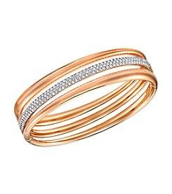 Swarovski® Rose Goldtone Exact Bangle Bracelet