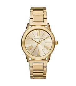 Michael Kors® Womens Hartman Goldtone 3 Hand Watch