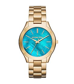 Michael Kors® Womens Slim Runway Goldtone 3 Hand Watch
