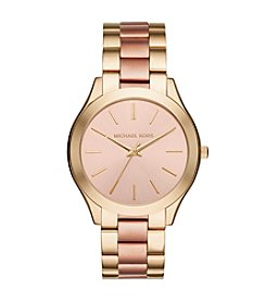 Michael Kors® Womens Slim Runway Two-Tone 3 Hand Watch