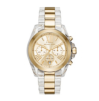 Michael Kors® Women's Bradshaw Clear Acetate and Goldton