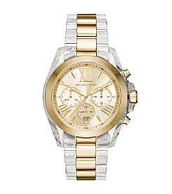 Michael Kors® Women's Bradshaw Clear Acetate and Goldtone Chronograph Watch