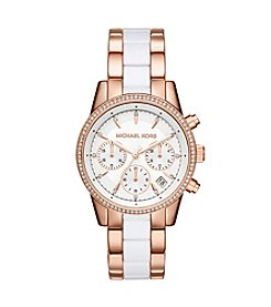 Michael Kors® Womens Ritz Two-Tone Chronograph Watch
