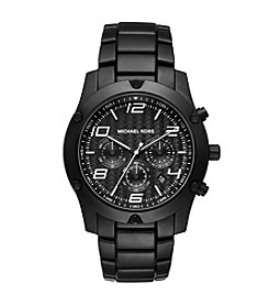 Michael Kors® Men's Caine Black-Tone Metal Chronograph Watch