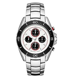 Michael Kors® Men's Jetmaster Silvertone Stainless Steel Chronograph Watch