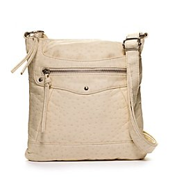 GAL Washed Ostrich Embossed Crossbody