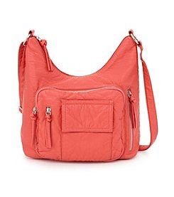 GAL Lizard Embossed Organizer Hobo Crossbody